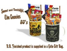 The Goonies - 'Never say Die' or 'Goonies Map'  Mug with/without a pirates treasure portion of 80's Retro Sweets